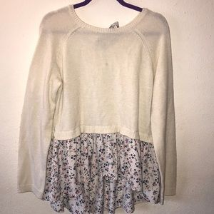 LC back Tuesday floral sweater